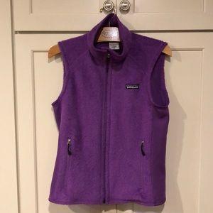 Patagonia woman's xs purple vest.